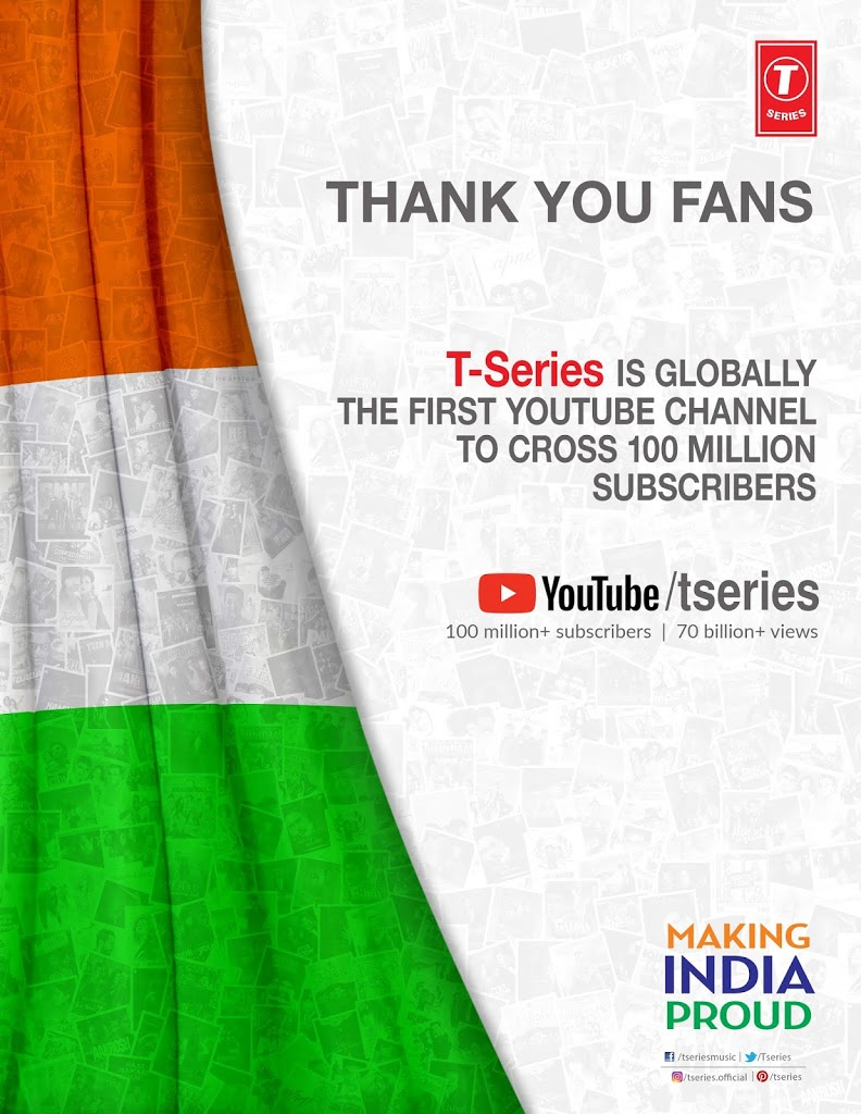 Bhushan Kumar's T-Series makes India proud World's biggest YouTube